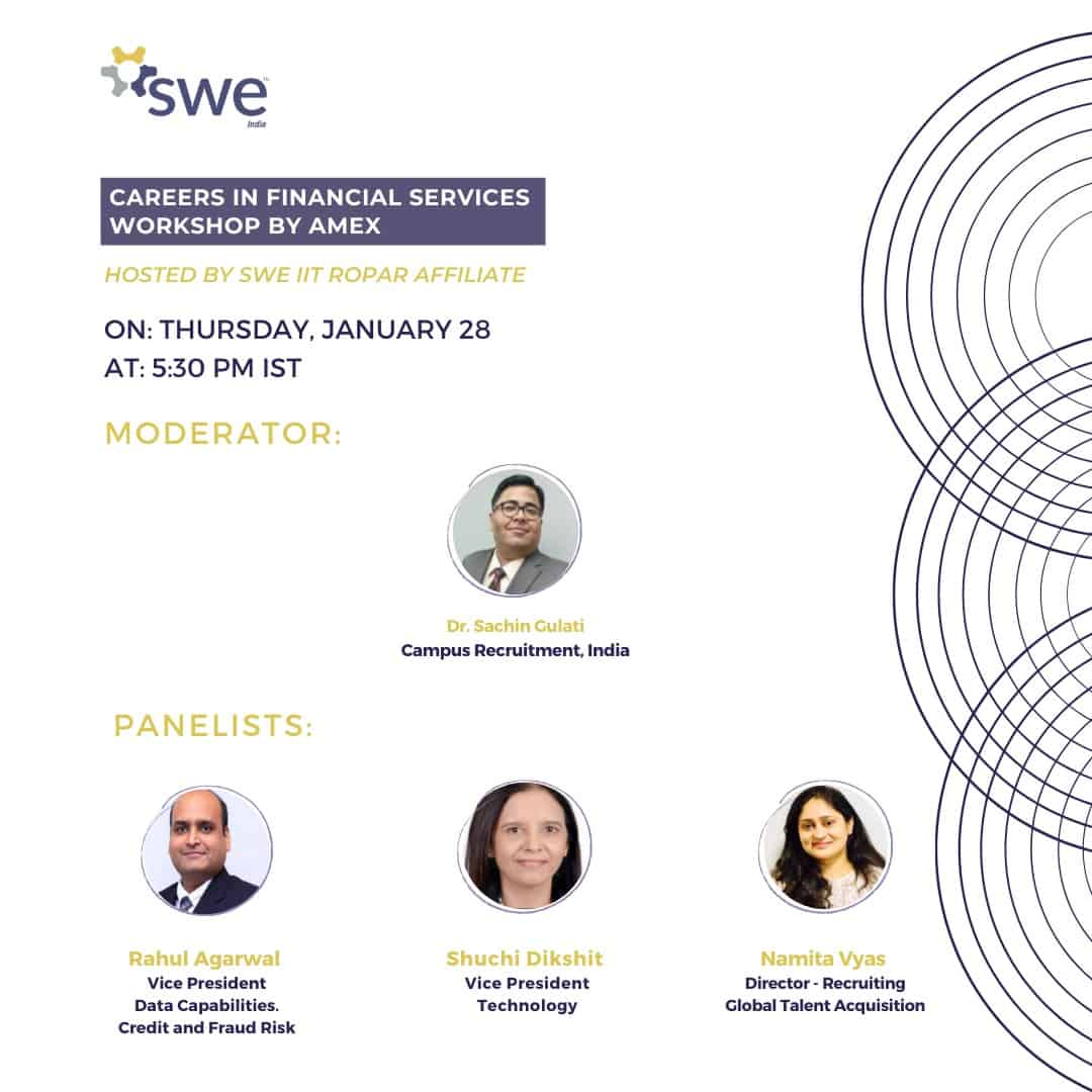 Swe Iit Ropar – Women In Engineering Conference – Day 1 (jan 28) Events