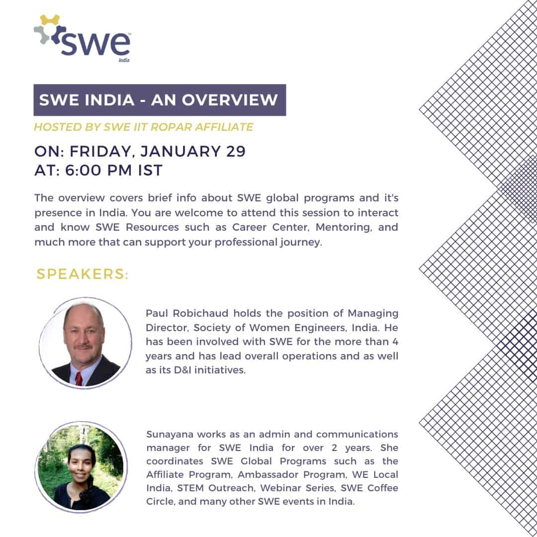 Swe Iit Ropar – Women In Engineering Conference – Day 2 (jan 29) Events